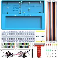Kuman la Platine d'expérimentation Arduino Raspberry Pi Support RAB 7 en 1 pour Arduino Uno R3, Mega 2560&Raspberry Pi 3B/ 2B/ 1B+/ Zero/Zero W …