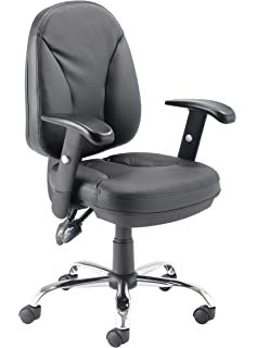 Office Hippo Chair With Adjustable Seat Back And Arms Leather