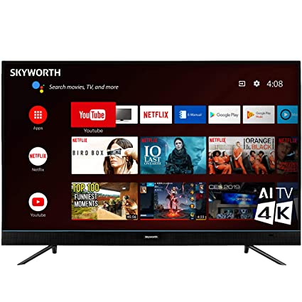 1245d7c6773 Image Unavailable. Image not available for. Color  Skyworth U5A Series  55 quot  Inch 4K UHD LED HDR A53 Quad-Core Android TV