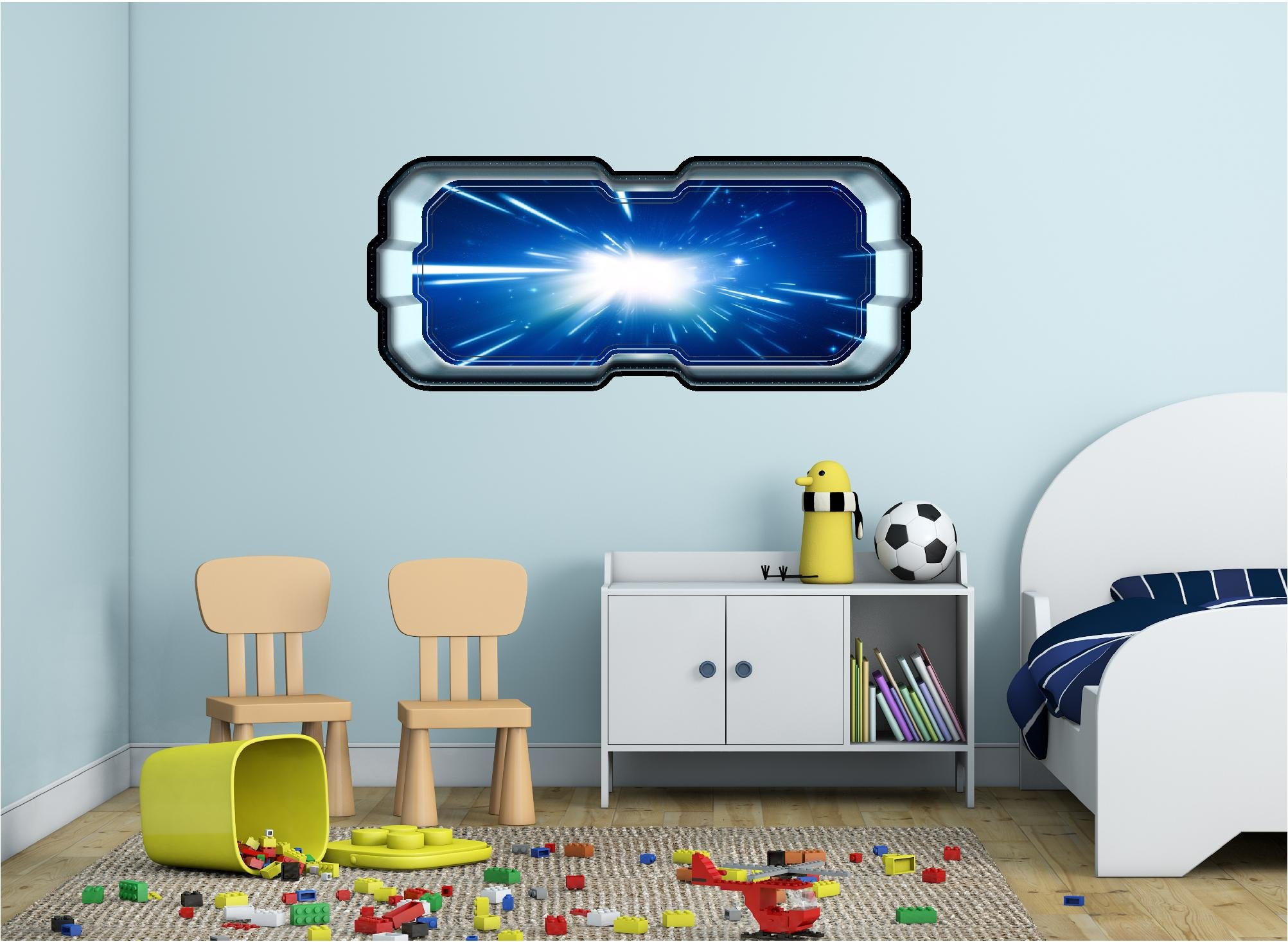 48'' SpaceScape Instant Star Ship Space Ship Window View LIGHT SPEED HYPERSPACE #1 Wall Sticker Decal Graphic Art Mural Kids Game Man Cave Room Decor NEW