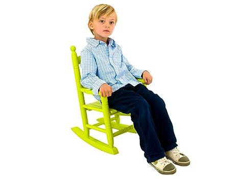 Sedie A Dondolo Bambini : Present time sedia a dondolo per bambini in legno colore: verde