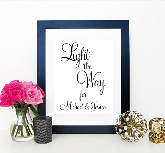 Amazon Com Light The Way For Personalized Wedding Send Off Signs