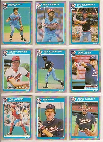 Minnesota Twins 1985 Fleer Baseball Team Set 23 Cardsi Ship