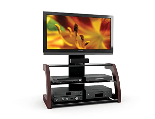 Sonax Milan 3-in-1 TV Stand Bench with Solid Wood Uprights