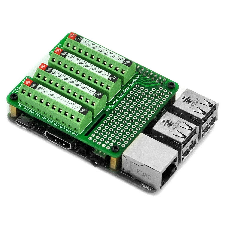 Electronics-Salon Pi Screw Terminal Block Breakout Module, for Raspberry Pi. by Electronics-Salon (Image #1)