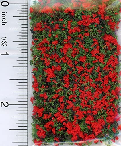 Dollhouse Miniature Red Blossom Garden Growies by Model Builders Supply
