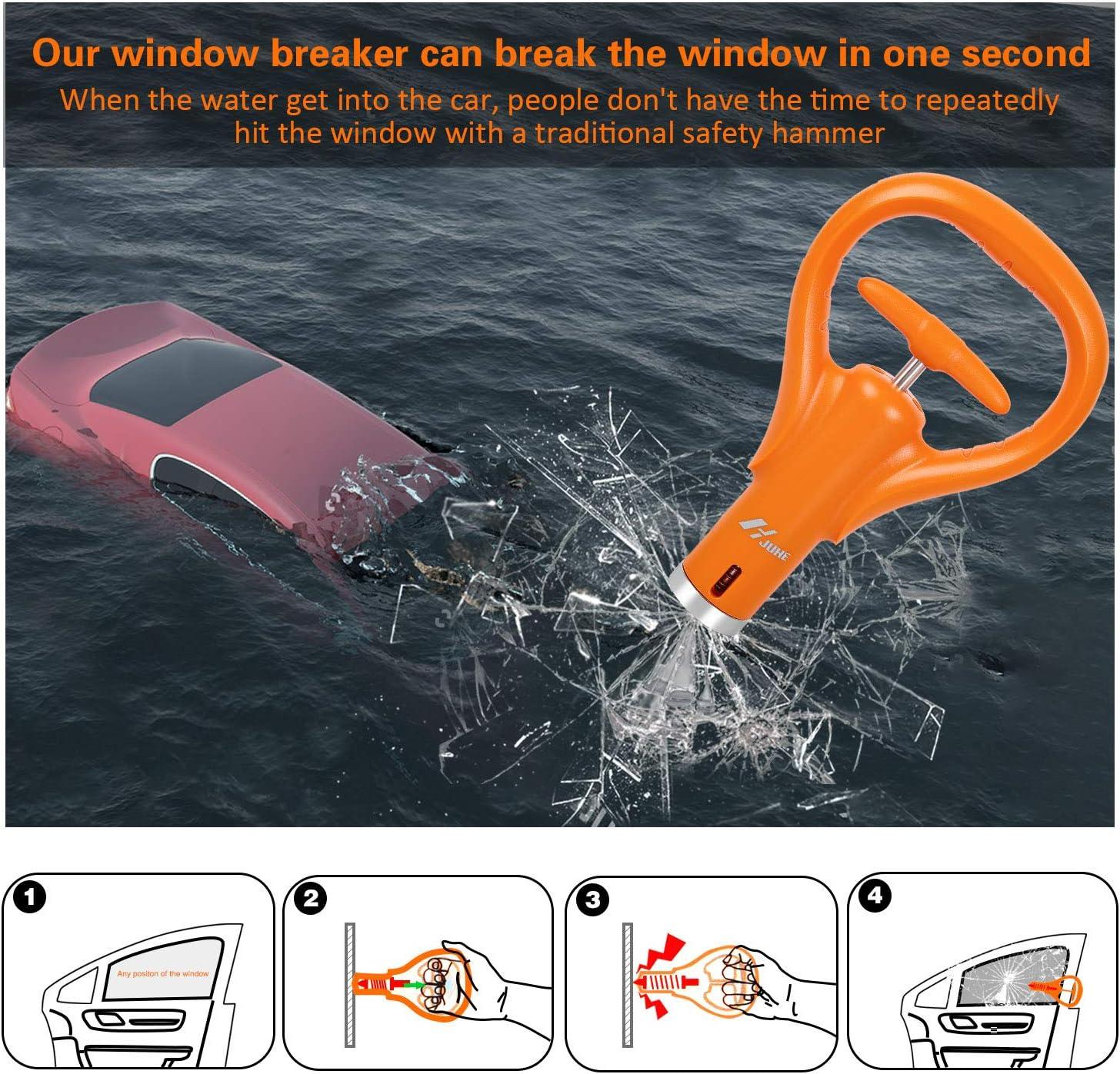 2 en 1 Voiture Fenêtre En Verre Disjoncteur Marteau de secours Seat Belt Cutter WB