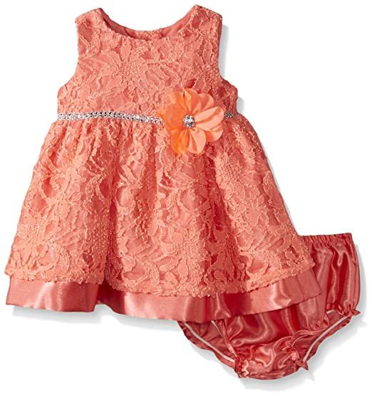 09321011c06 Sweet Heart Rose Baby Lace Over Satin Occasion Dress with Flower ...