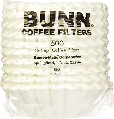 Brewrite for Bunn Coffee Maker Filters 12 Cup Commercial White 2000 ct Pack