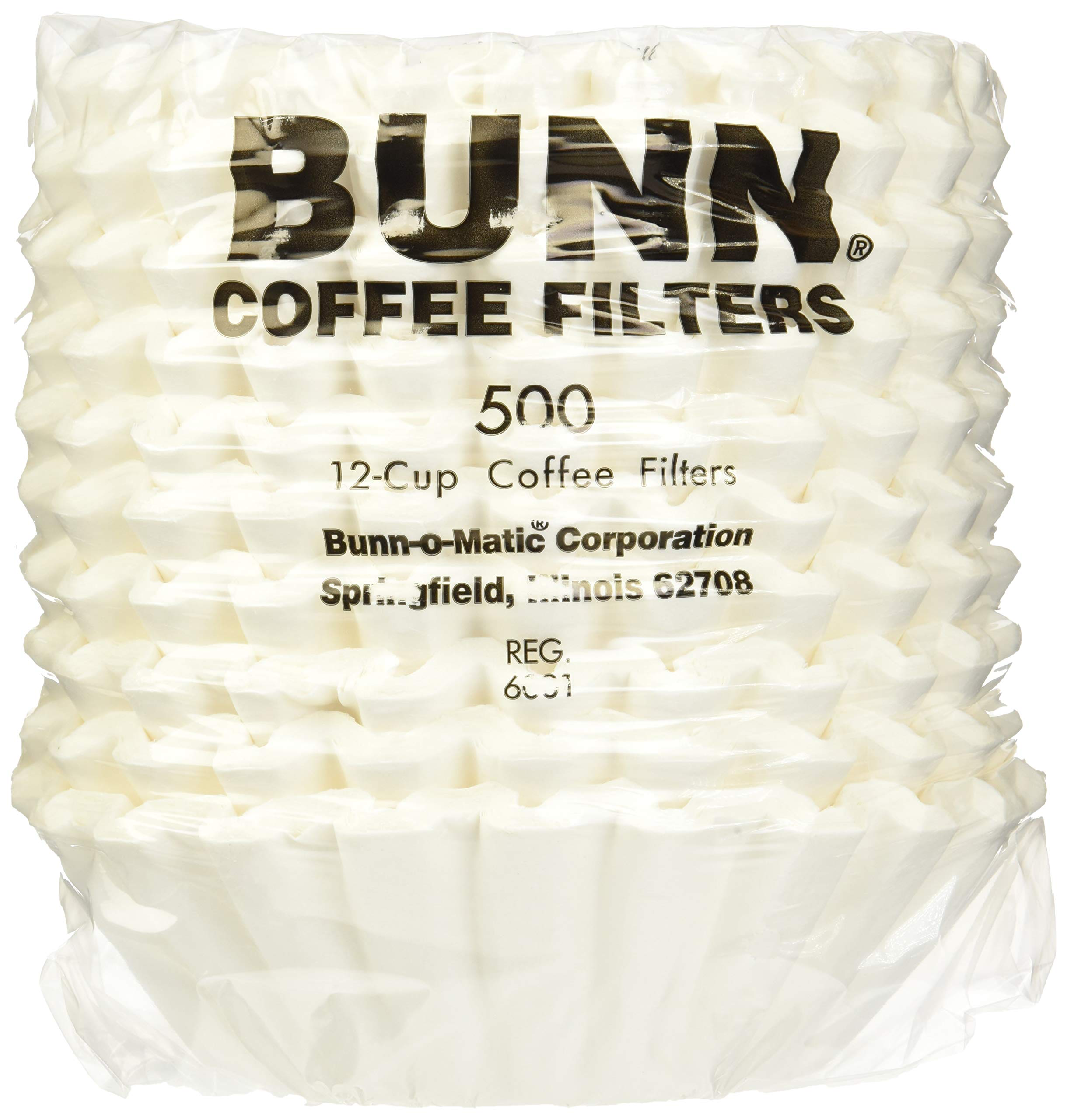 Bunn 20115.0000 1000 Count 12 Cup Commercial Coffee Brewer Filters, White (1000) by BUNN