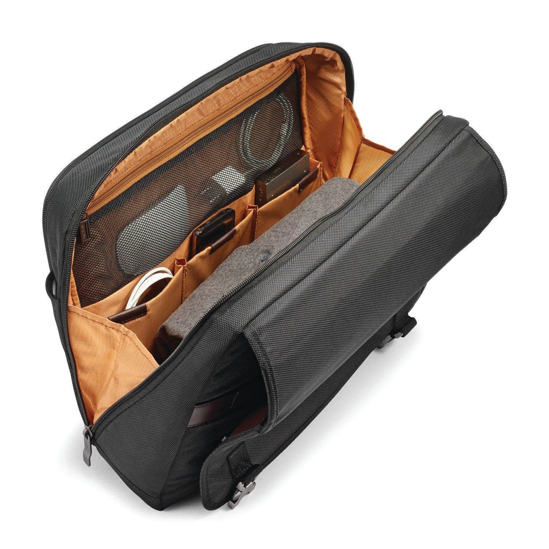 Samsonite Kombi Flapover Briefcase, Black/Brown by Samsonite (Image #3)