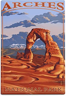 product image for Lantern Press Arches National Park, Utah - Delicate Arch 23892 (6x9 Aluminum Wall Sign, Wall Decor Ready to Hang)