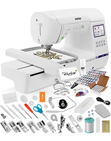 b7eb47557ff9e Brother SE1900 Sewing Embroidery Machine + Grand Slam Package Includes 64  Embroidery Threads + Prewound Bobbins