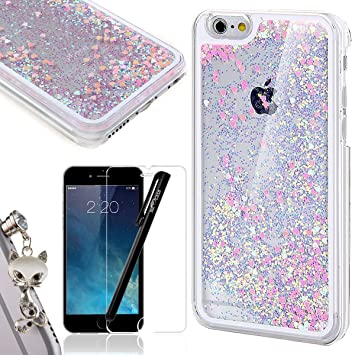 promo code 27706 a9400 iPhone 6 Plus Liquid Case,iPhone 6S Plus Glitter Bling Cover,We Love Case  Flowing Floating Water Liquid Swimming Plastic Case Clear Hard Shell 3D ...