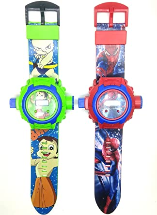 Buy Bheem Spidermen Combo 24 Picthurs Projector Watch For Kids Diwali Gift Birthday Return Of 2 Watchs Online At Low Prices In India