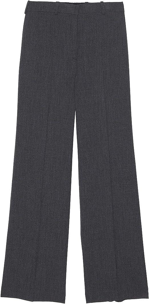 Zara 8064/703/803 - Pantalón Recto con Pinzas Gris XL: Amazon ...