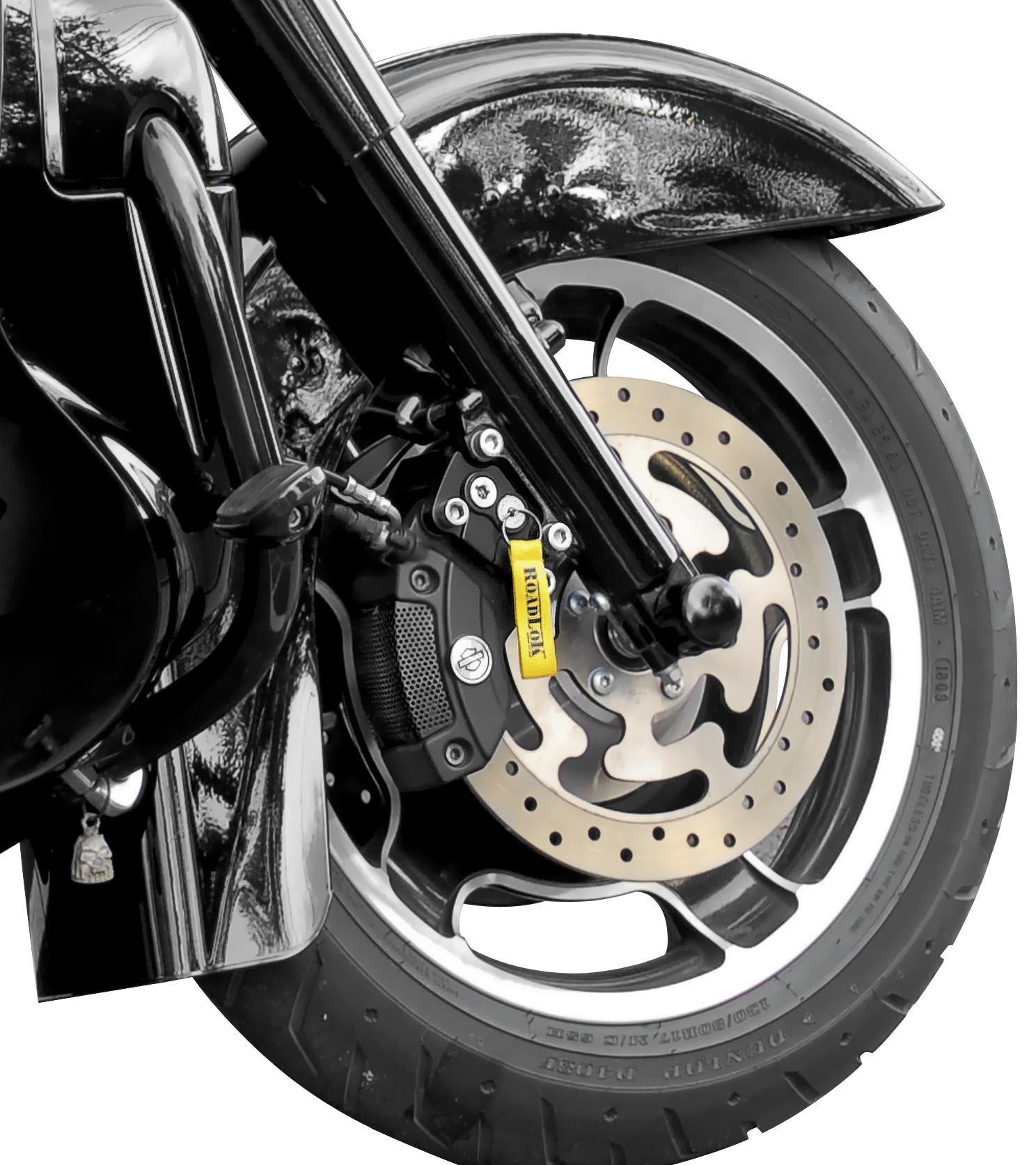 Roadlok XD Black Anti-Theft System for 2000-2010 Harley Davidson FLH/FLT by RoadLok