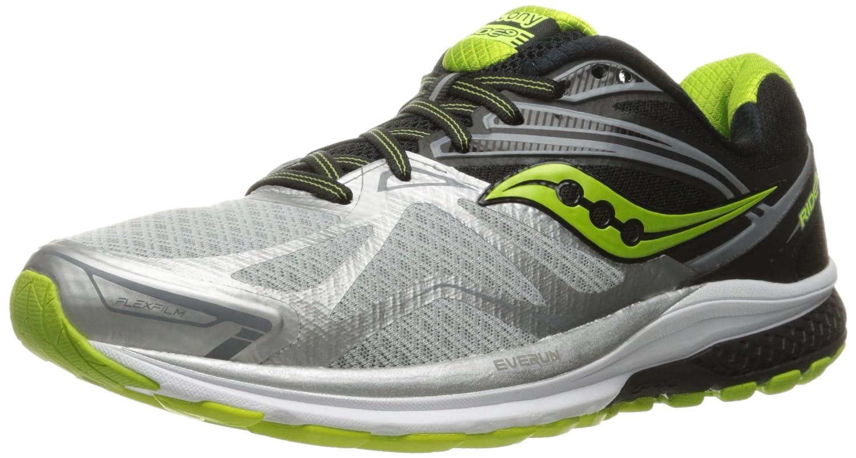 Saucony Ride 9, Zapatillas de Running para Hombre 48 EU|Gris (Silver/Black/Lime)