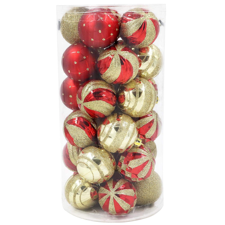 f7866ec47e1 Valery Madelyn Juego de 30 de bolas de Navidad