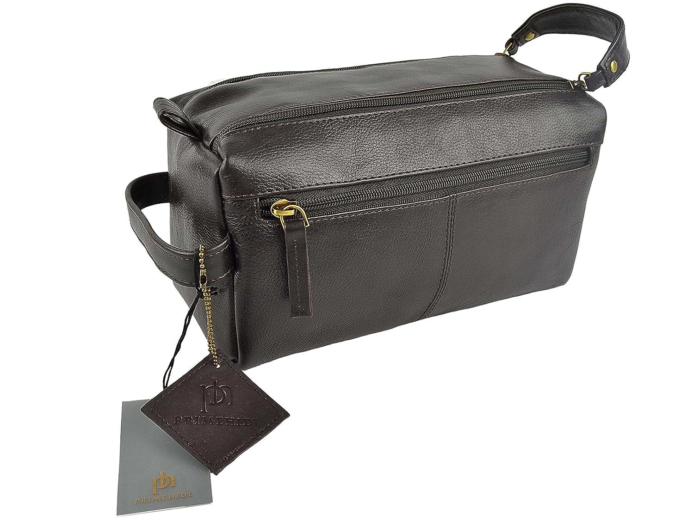 Amazon.com   Prime Hide Great Leather Washbag By Primehide Travel Handy  Brown   Beauty 5a2472d47d475