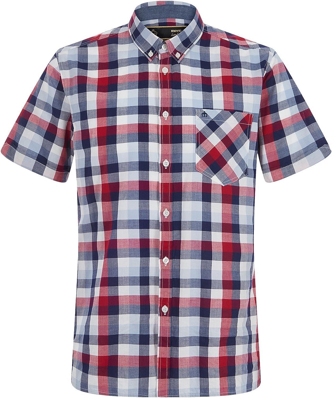 Merc Ashford - Camisa de manga corta para hombre (talla M), color rojo: Amazon.es: Ropa y accesorios