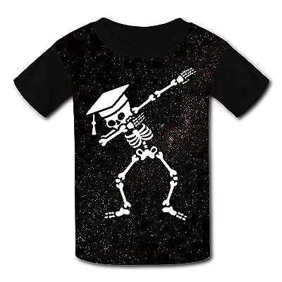 iqwekfrec Kids DAB Skeleton Dabbing Various Short Sleeve T Shirt For Boys Girls