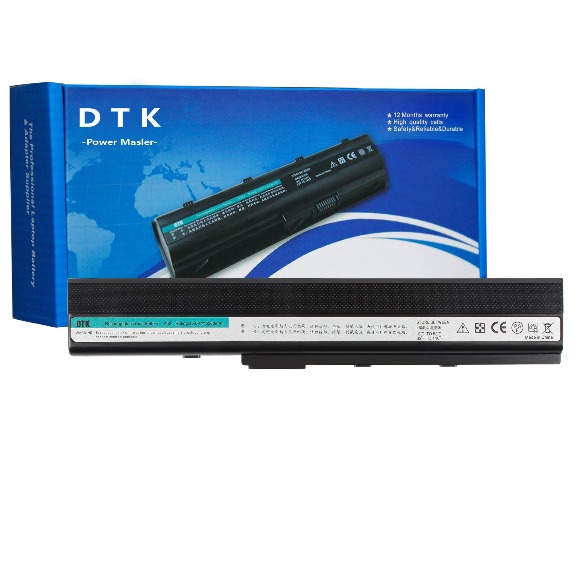 Bateria A32-K52 para ASUS A52F A52J K52F X52N X52J X52F K52D K52J X5IJ 10.8 5200mAh