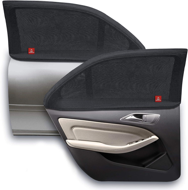 ROYAL RASCALS   Funda para ventana x2   PROTECCIÓN UV 40+ contra los nocivos rayos solares ultravioleta   Cobertura del 100% de la ventana   Tamaño universal para todos los coches   Material premium