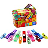 MumCraft Multipurpose Sewing Clips with Tin Box Package, Assorted Colors, Pack of 40 and 20 Jumbo Clips