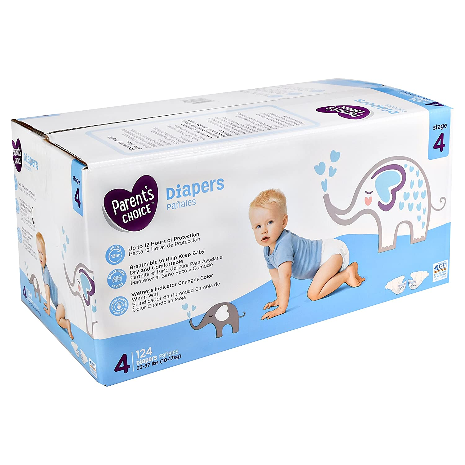 Amazon.com: Branded Parents Choice Diapers, Size 4, 180 Diapers , Weight 22-37 - Branded Diapers with fast delivery (Soft and Comfortable for Babies): ...