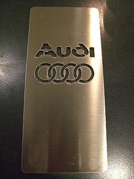 Plataforma reposapies para tuning en acero inoxidable, 18 x 8 cm, con kit velcro: Amazon.es: Coche y moto