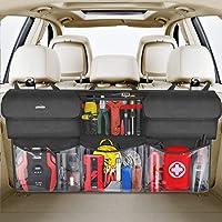 Oasser Back Seat Trunk Organizer Hanging Car Organizer Trunk Foldable Cargo Storage with 6 Large Pockets 3 Adjustable…
