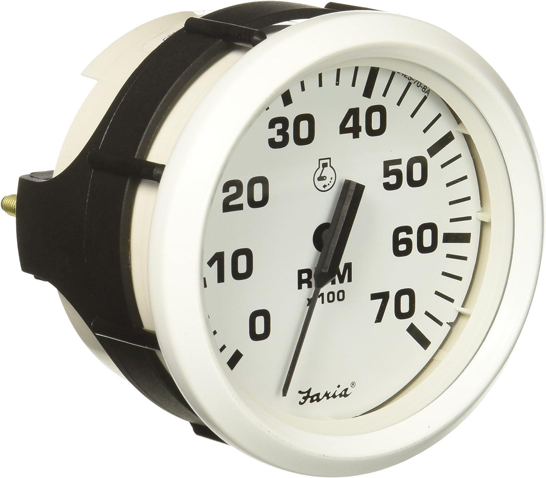 Dress White Faria 33104 Tachometer-7000 RPM