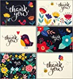 Spark Ink 36 Floral Thank You Cards with Envelopes, Elegant Thank You Notes, Blank Inside, Perfect for Wedding, Baby…