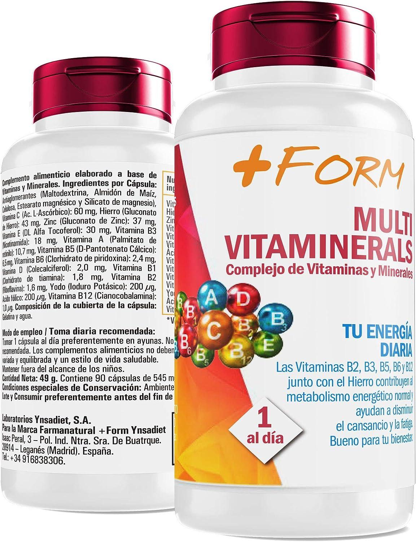 Complejo vitamínico con minerales, vitamina C, vitaminas B2, B3, B5, B6 y B12 así como hierro - multivitamínico para aumentar la energía y el bienestar de su cuerpo -90 cap: Amazon.es: Salud