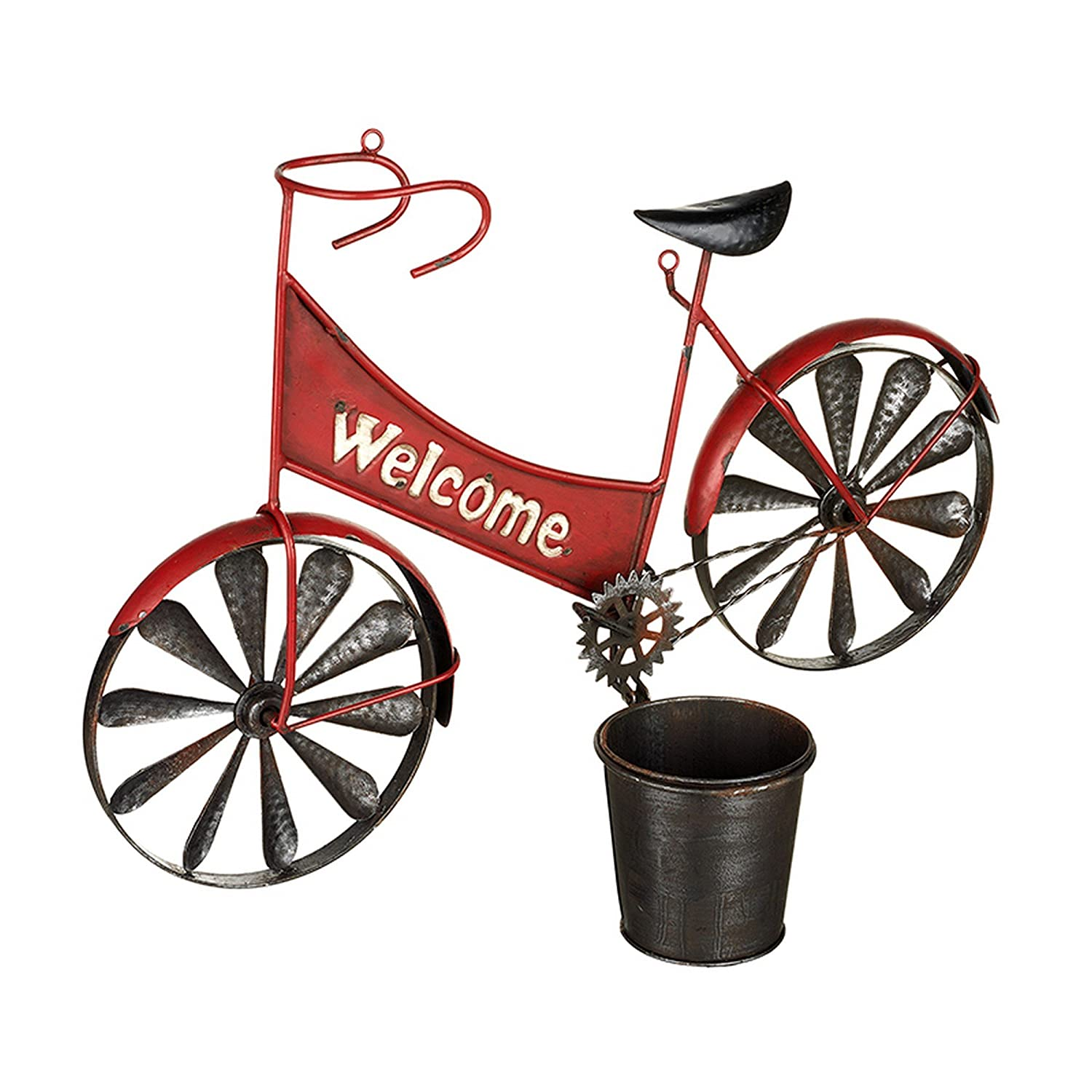 Heaven Sends Red Welcome Bicycle Planter (54 x 18 x 36cm) (Red) UTHS1428_1