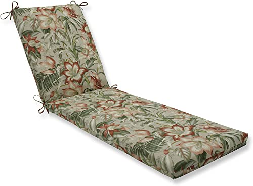 Pillow Perfect Outdoor/Indoor Botanical Glow Tiger Stripe Chaise Lounge Cushion