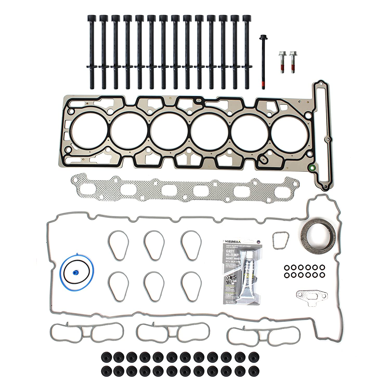 TS2621400HB Brand New MLS Cylinder Head Gasket Set and Head Bolt Kit