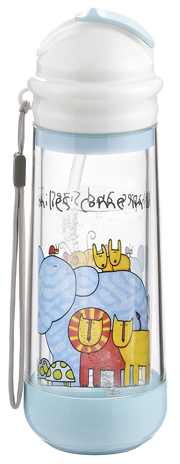 Drinkadeux DSARTSZ Glass Double Wall Insulated Bottle with Straw Happy Mummmy