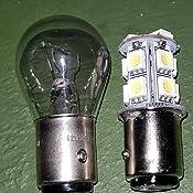 Unipower TMT Leds(TM) 2 X Bombillas LED BAY15D 1157 P21/5W 13 Leds SMD 5050 12V Blanco POSICION Frenos Coches Motos