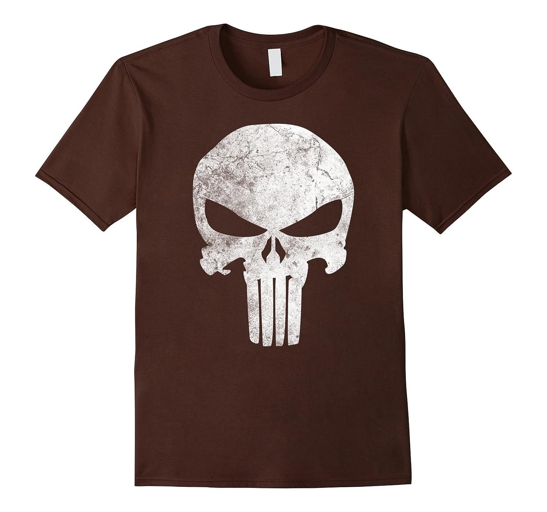 e82310d620a8e4 Marvel Punisher Retro Skull Symbol Graphic T-Shirt-PL – Polozatee