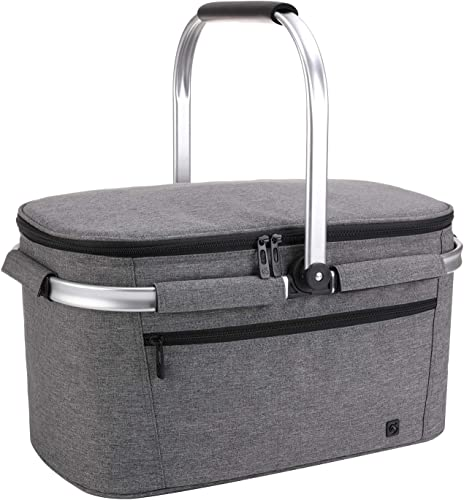 ALLCAMP OUTDOOR GEAR Picnic Baskets 32L Large Gray