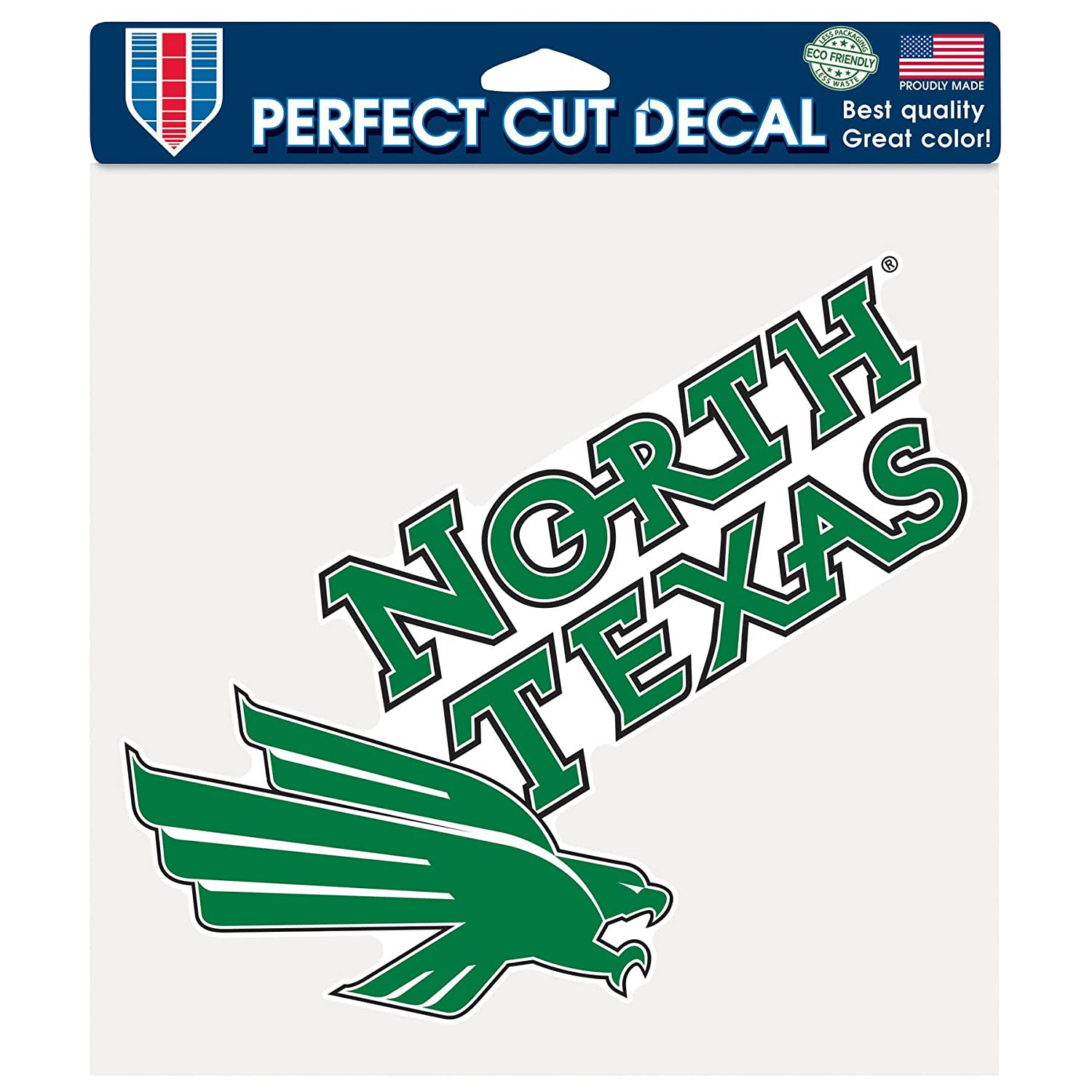 8 x 8-Inch NCAA North Texas Mean Green Perfect Cut Color Decal