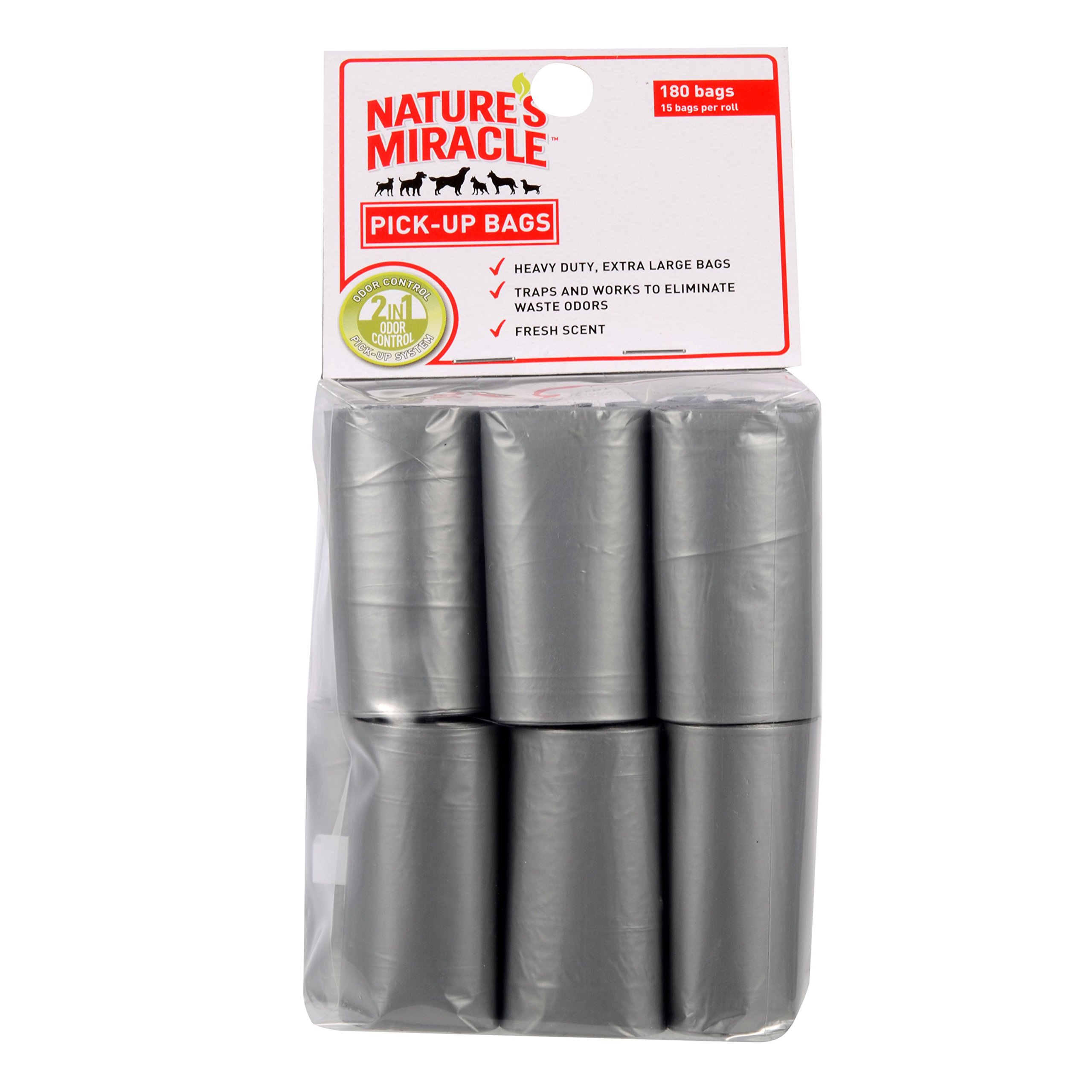 Nature's Miracle Pick-Up Bags, 12 Rolls, 180 Bags (P-6006)