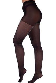 34a011f101d6d8 Leg Avenue Glitter Lurex Tights (Black/Silver): Amazon.co.uk: Clothing