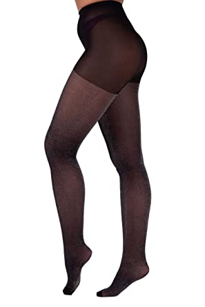 55d6d1a3d Essexee Legs Women s Lurex Tights. EL574. 30DEN. 1 Pair. Black-Silver