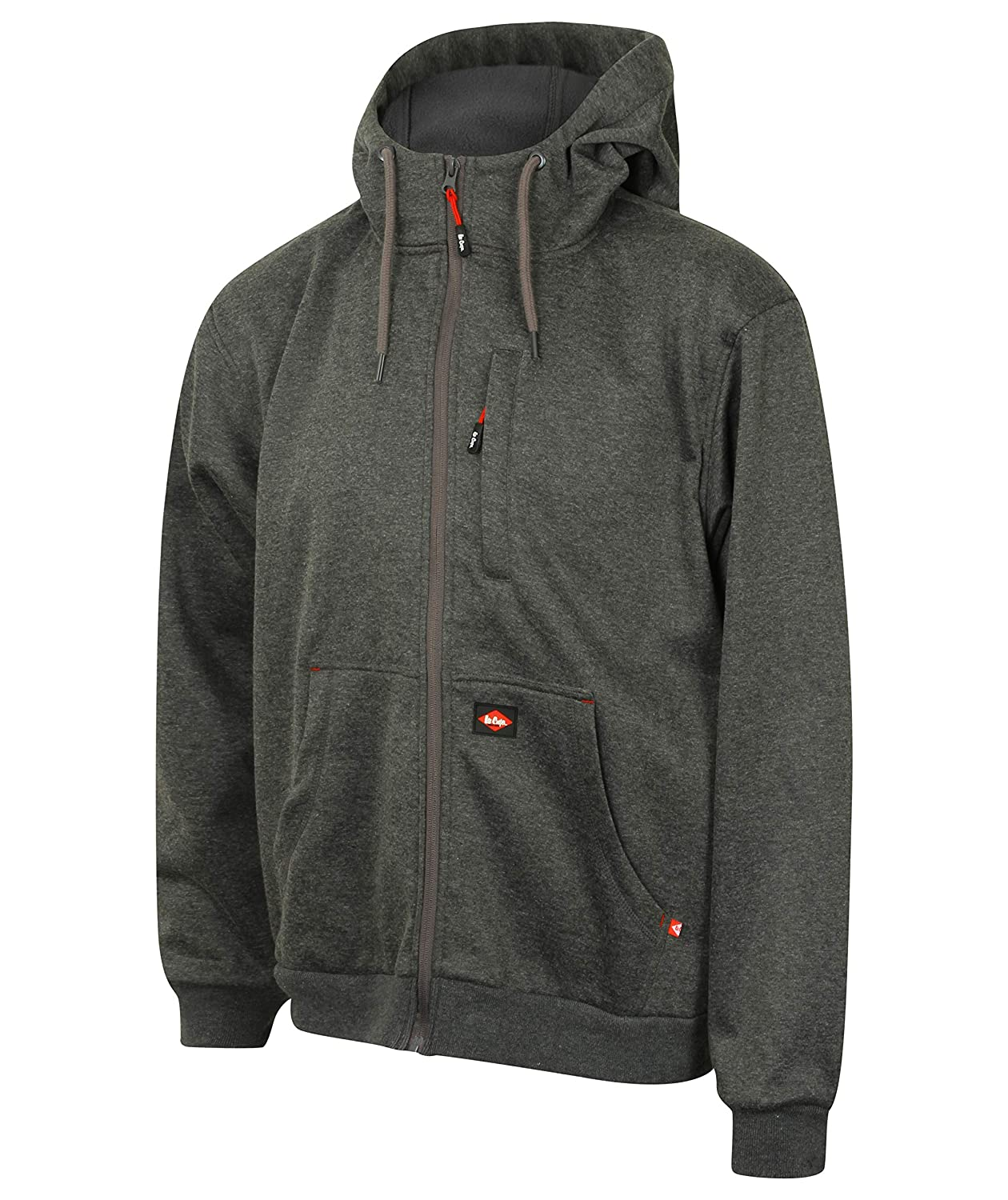Lee Cooper Workwear lcswt123 _ GMarl 2 X L winddicht mit Kapuze Bonded Fleece Zip Up Hoodie, grau marl