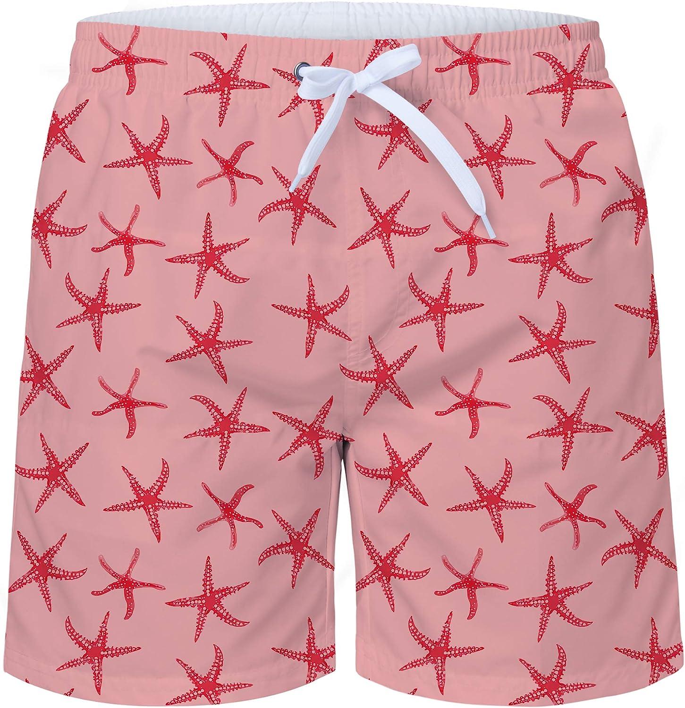 TUONROAD Badehose f/ür Herren Bunte Blumen Lustige Bermuda Badeshorts 16-Inch Schnelltrocknend Kurz Hawaii Strand Shorts