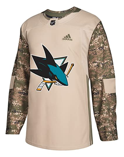 huge selection of 9d0b6 ec98a San Jose Sharks Adidas NHL Edge Camouflage Pre-Game Authentic Warm Up Jersey