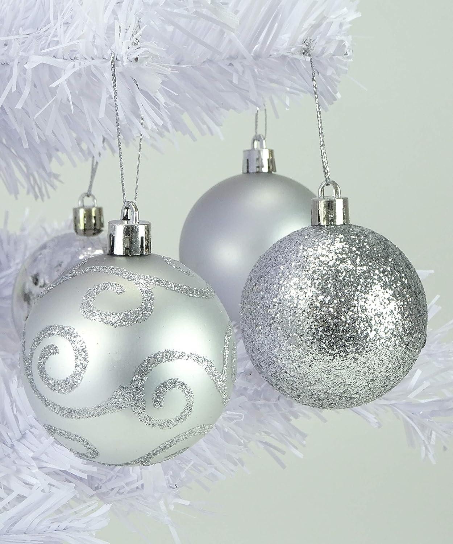 Decorazioni Albero 24 Confezione 60mm Bagattelle Infrangibile Natale